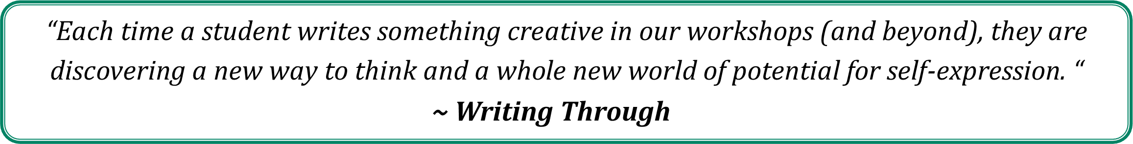 Quote from Writing Through
