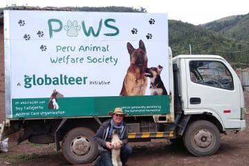 Jim Elliott with the PAWS mobile veterinary clinic