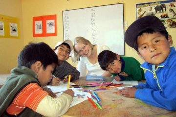 English classes for the kids in Cusco