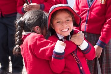 Children at the community project in Peru