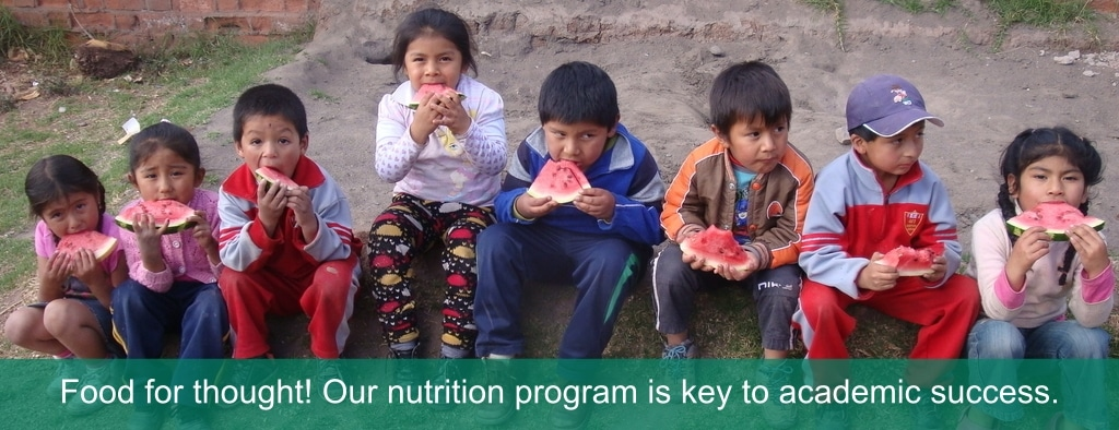 providing nutritious food to kids at children's project cusco peru