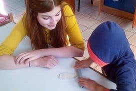 School volunteering in Peru