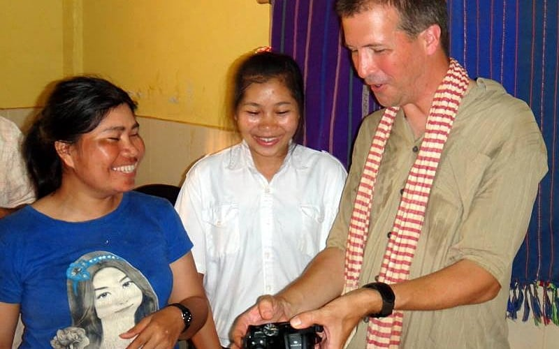 Volunteers at the Cambodia Indigenous People's Project
