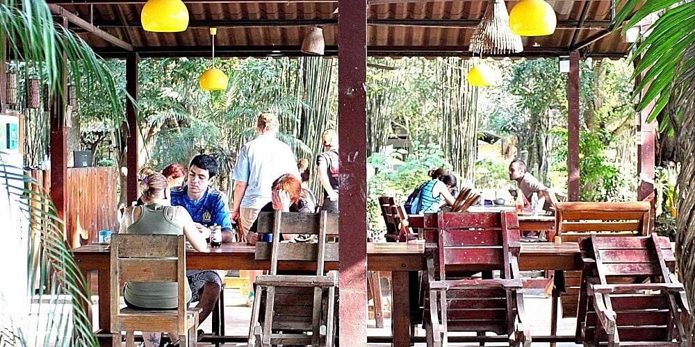 Volunteer communal area at the Thailand Elephant Sanctuary