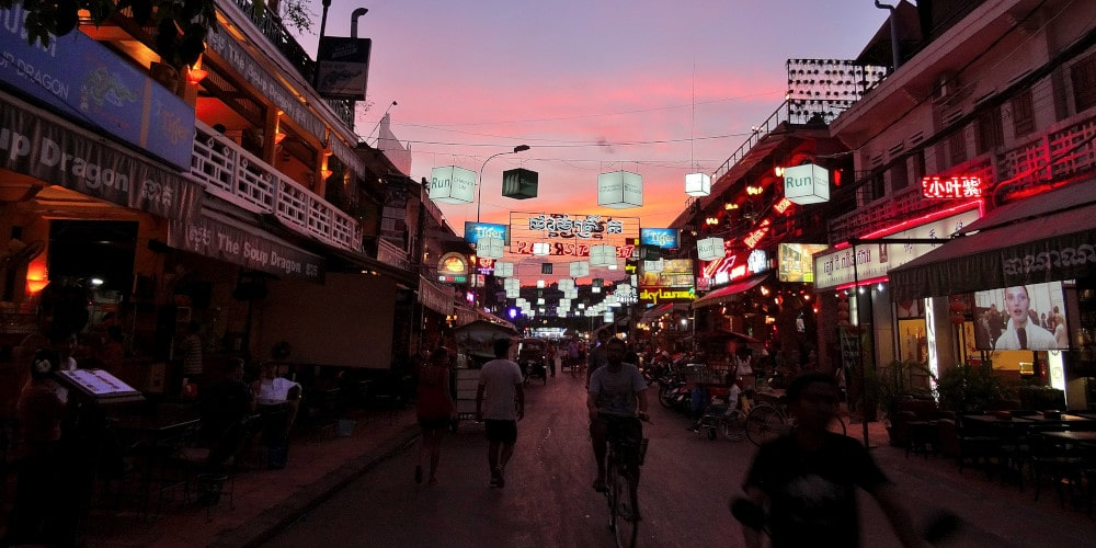 Night life in Siem Reap