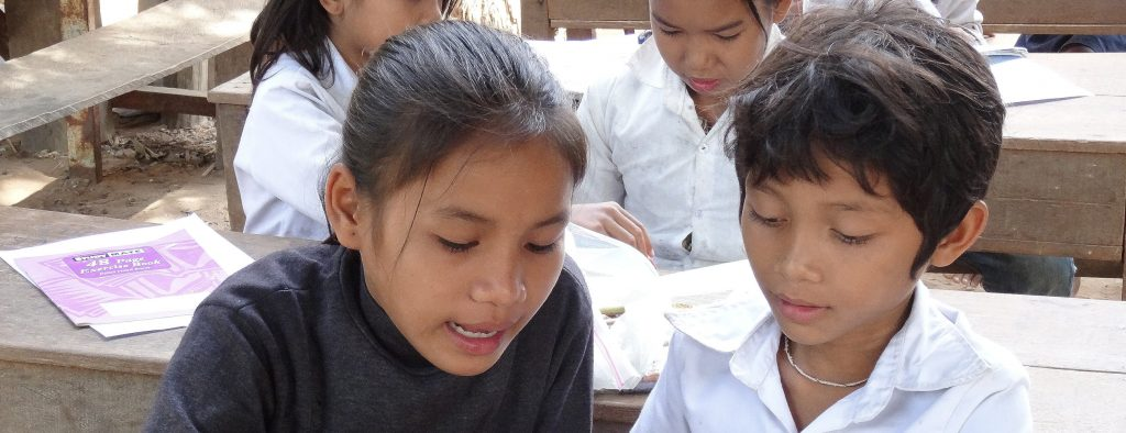Hard at work at the Cambodia community Project