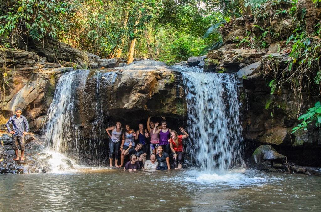 Waterfall near the Elephant Sanctuary