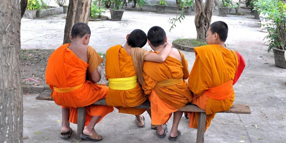 Novice Monks in Luang Prabang