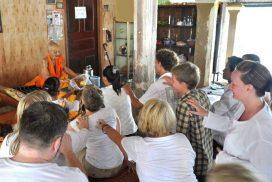 Pchum Ben blessing Siem Reap