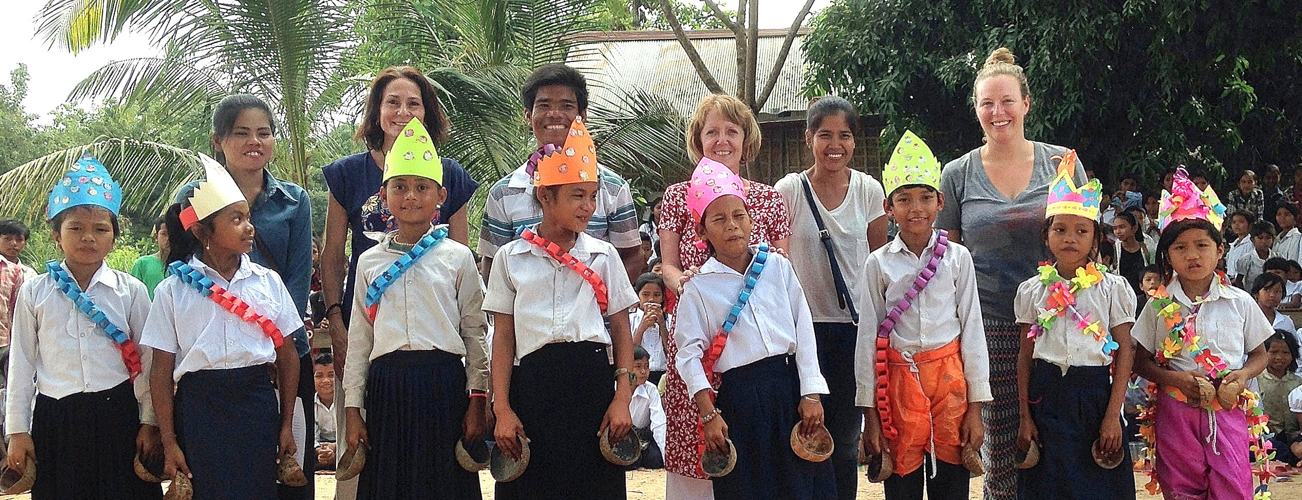 Prize giving at the Cambodia community Project