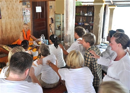 Buddhist blessing in Siem Reap