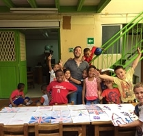 arts and crafts day at Colombia Kids Project