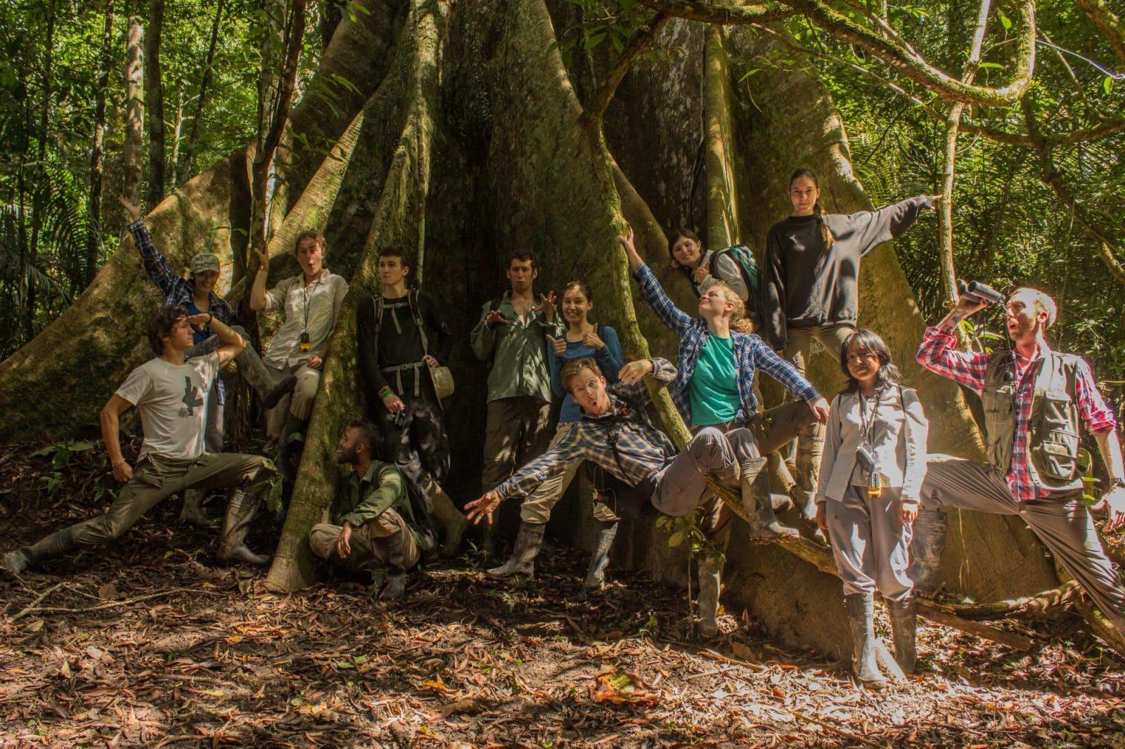 Volunteers in the Amazon Rainforest