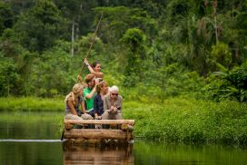 Volunteer at the conservation project in the Amazon
