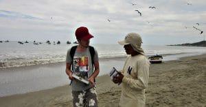 Working alongside local researcher Peru Marine Conservation