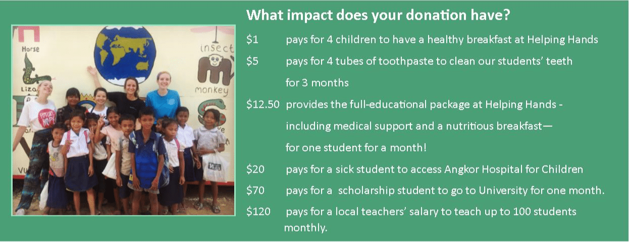 Helping Hands School Donation Impact