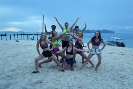 Volunteers at the Borneo Marine Conservation project