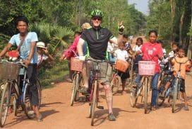 John bikeride for Helping hands in Cambodia