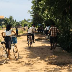 Cambodia Students Slow Bike Race Challenge