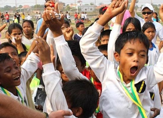Empowering students through sports programme Cambodia