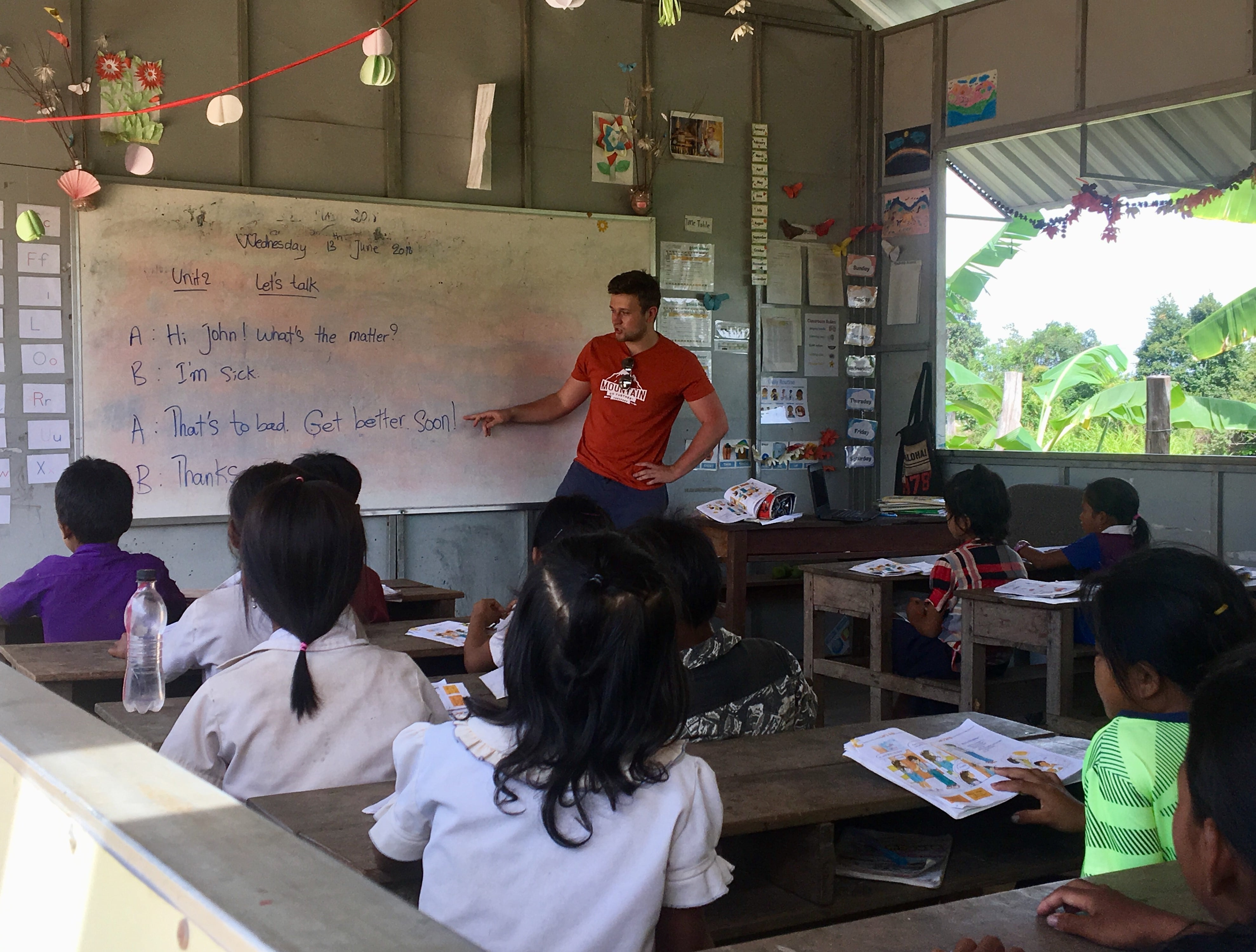 Volunteering with the children in Cambodia