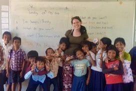 Volunteer teaching at Community project