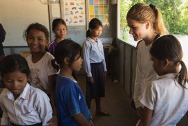 Female Volunteer in Cambodia