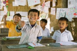 Kids at Helping Hands, Cambodia