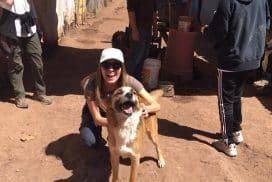 Volunteer at the dog shelter