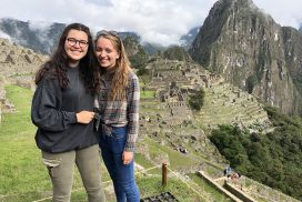 Anna & Elise interns at Machu Picchu