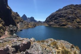 Lake on the Lares trek