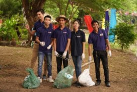 Cleanup day in Siem Reap Cambodia