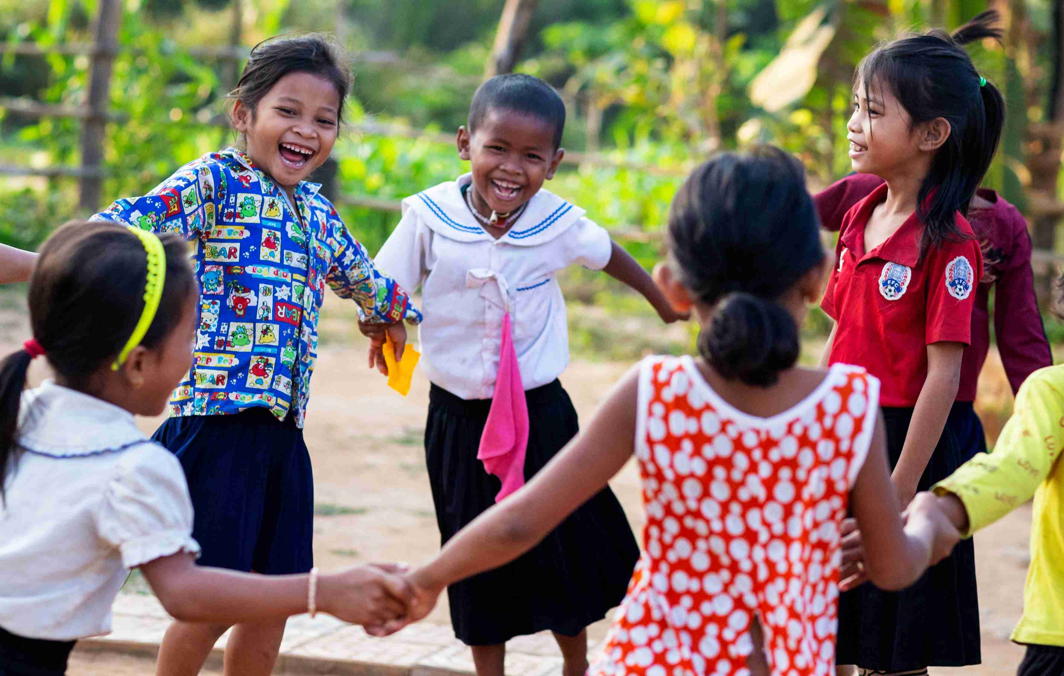 Dancing children in Cambodia