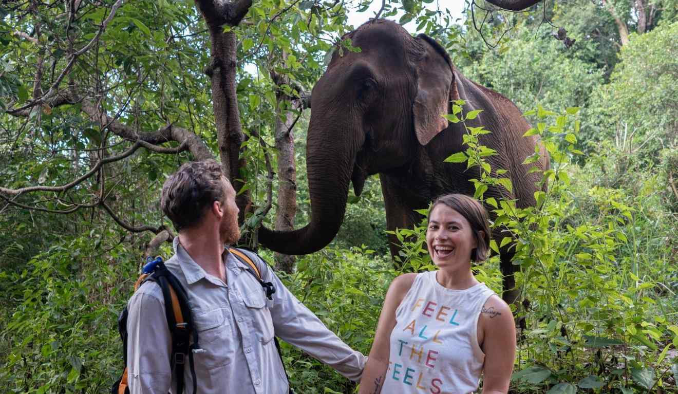 Service learning at an elephant sanctuary