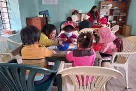 bringing learning resource to children in Rural Cusco villages Peru